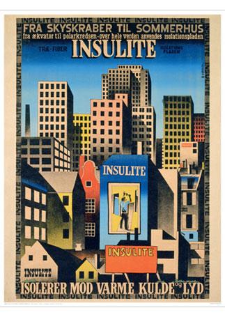 Ib andersen insulite2 vintage plakat