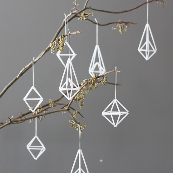 Eyes wide open white christmas and stars for Diy modern christmas decorations