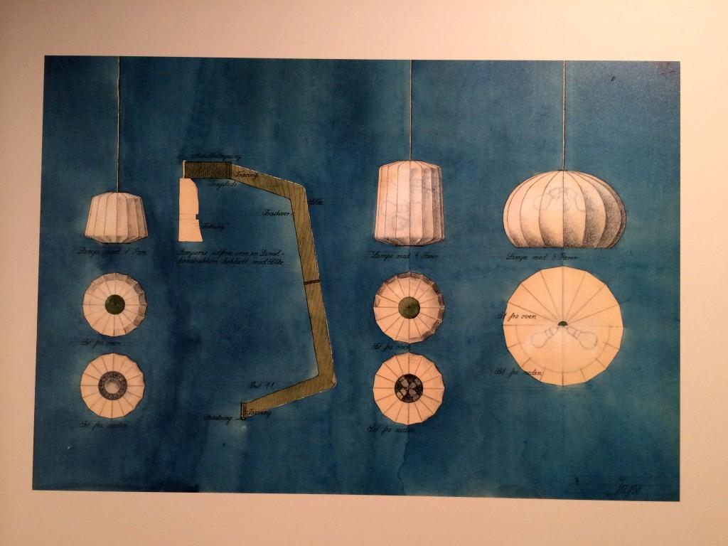 wegner_tegning_lampe_udstilling