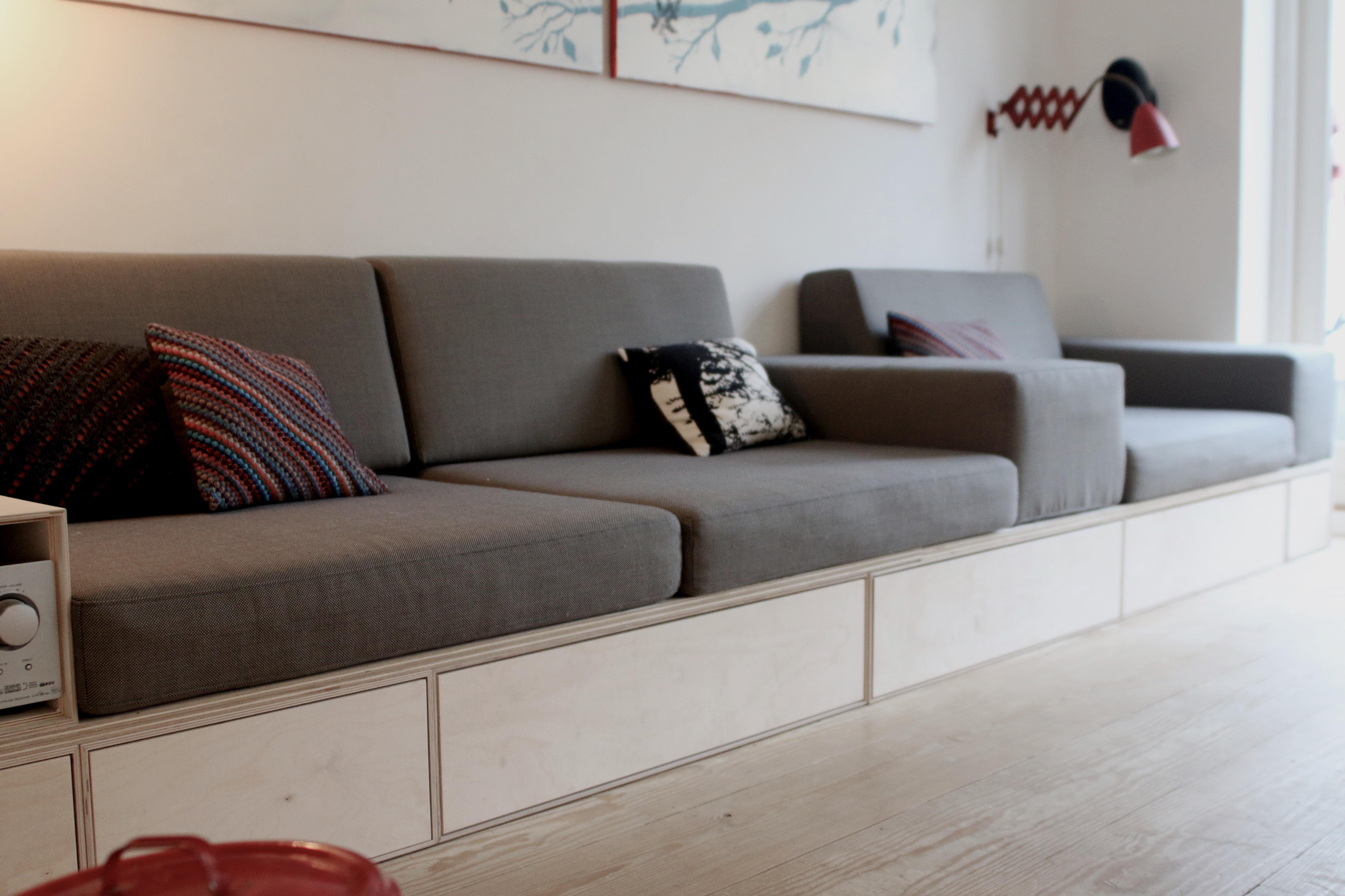 Bygge hjørnesofa – La réparation des appartements