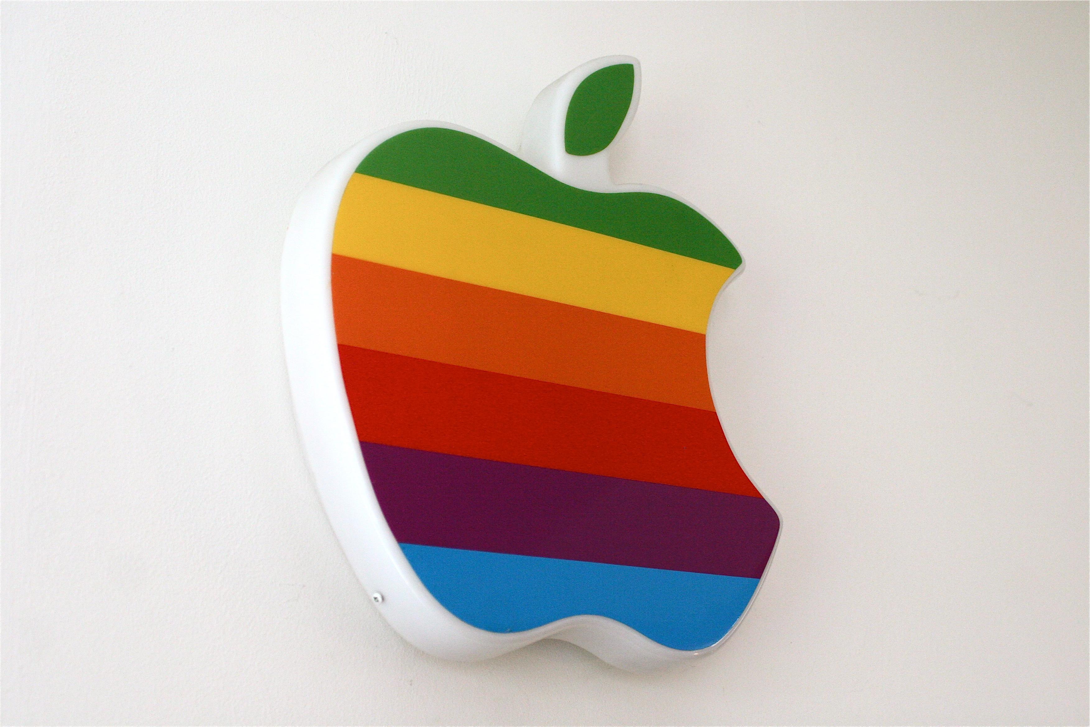 Apple logo retro