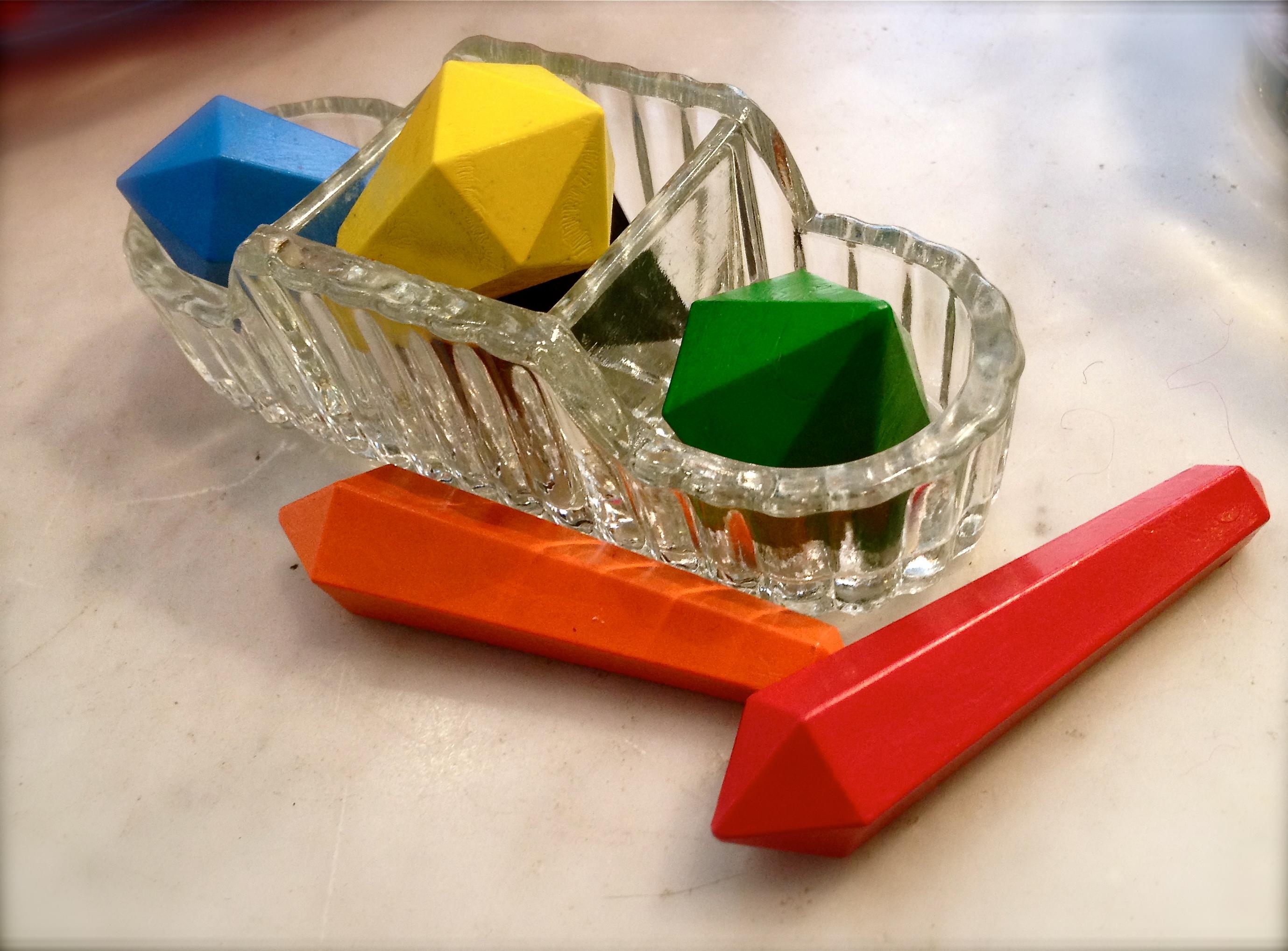 Diamanter farvekridt for børn