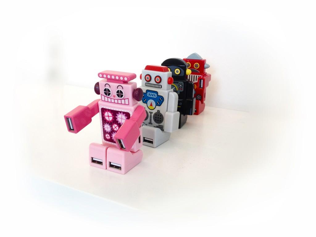 Hub med humor robot