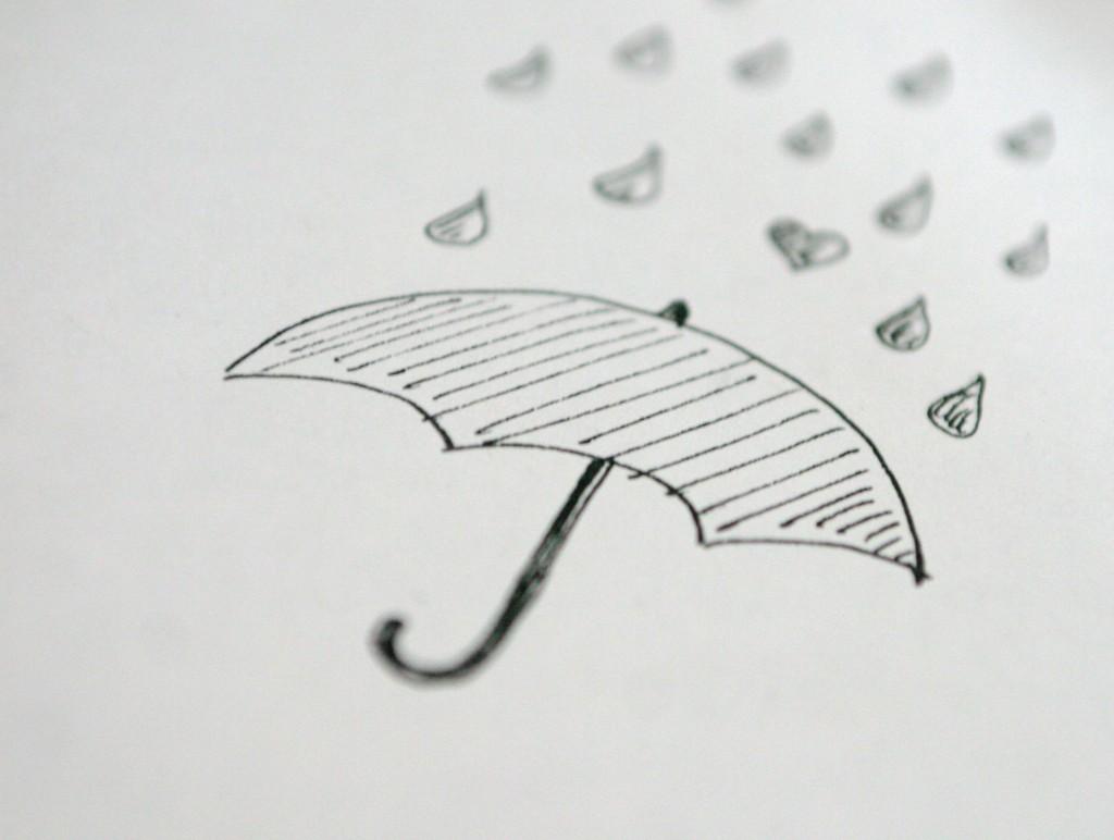 paraply_regn_tegning