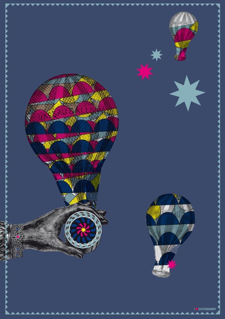 A5 sisterkort balloon