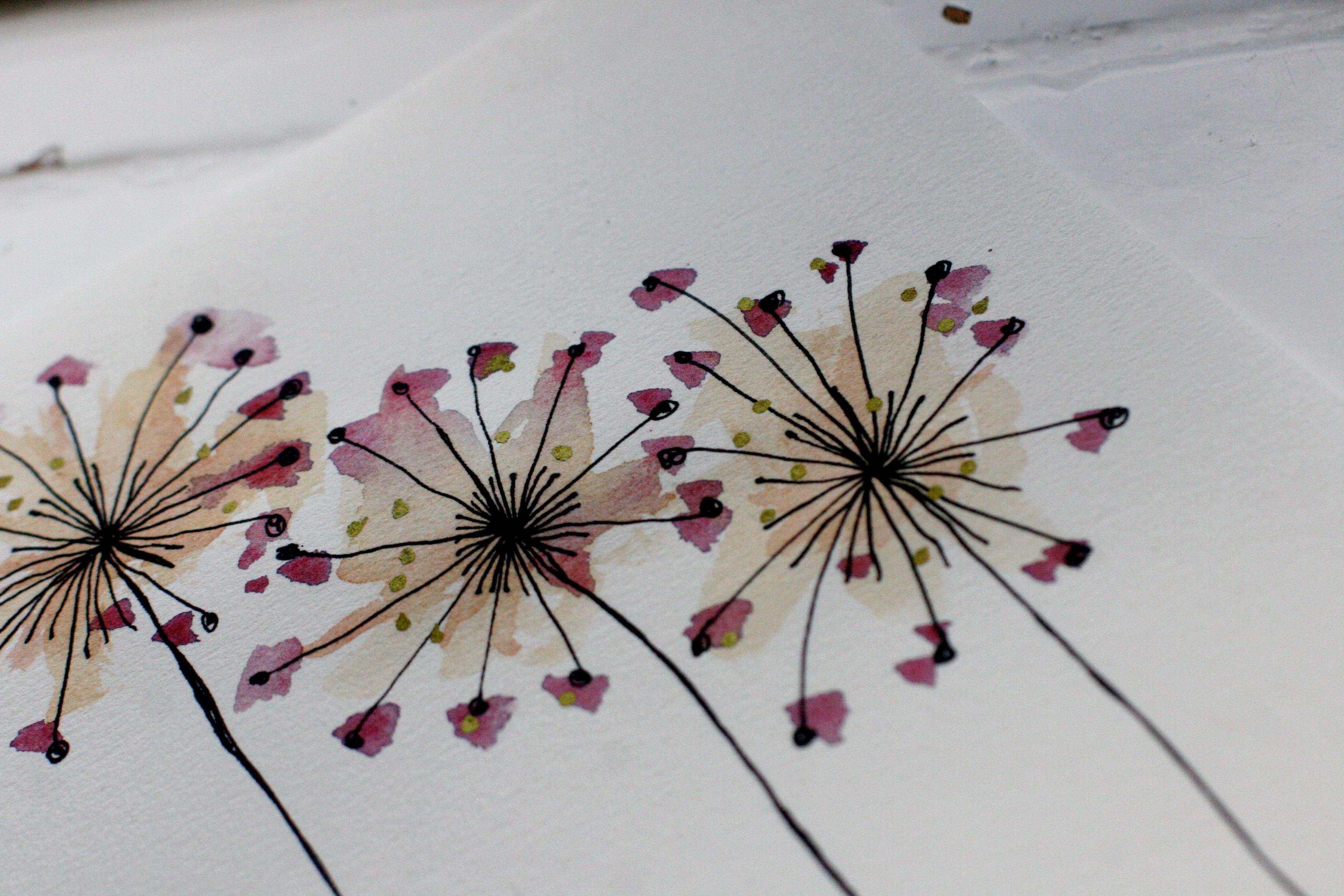 blomst_akvarel_guld