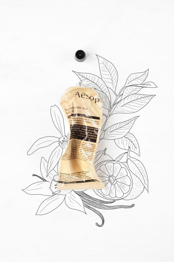 drawing_tegning_aesop_packaging