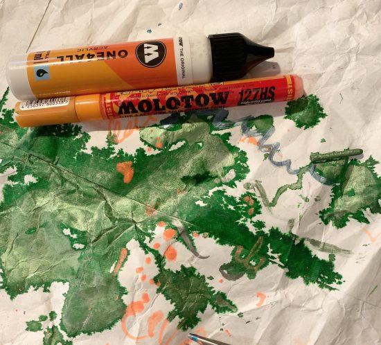 molotow farve tryk textil at fejle